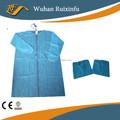 polipropileno azul cirúrgica vestido com punho elástico
