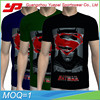 Mens sublimation printing short sleeve v neck 100% cotton t-shirts with face print