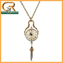 Japan movt quartz pocket watch, necklace pocket watch women