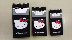 3D Hello Kitty Cigarette Pack Silicone Mobile Phone Case for iPhone 5/5s, 6/ 6 Plus