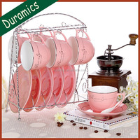 Chinese supplies cheap ceramic tea cup set, turkish tea set