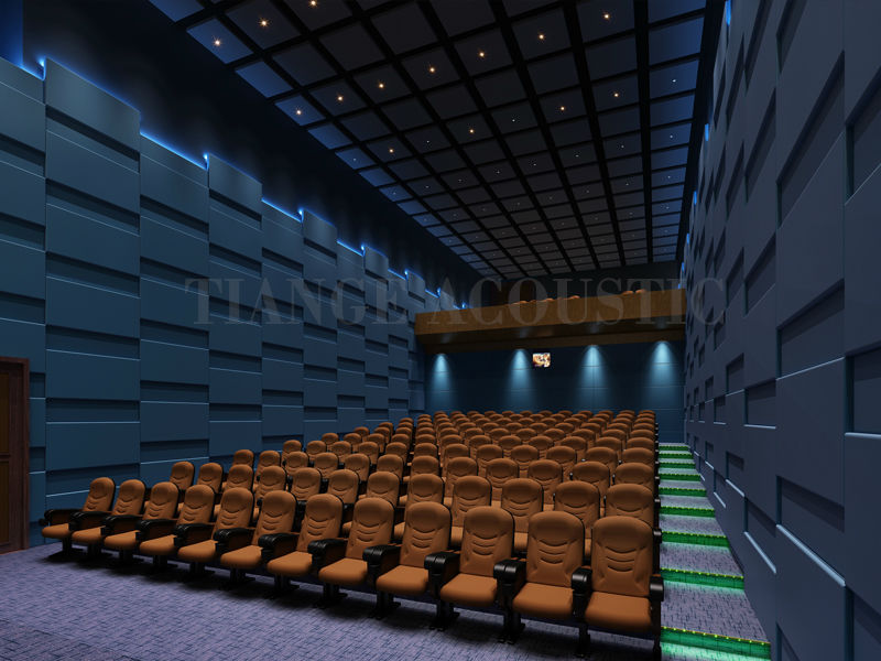 Cinema Interior Design Fabric Acoustic Wall Panel Material