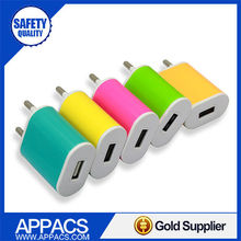 Coloful travel adaptor multi usb best mobile charger for blackberry