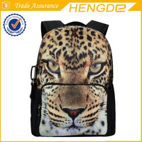 Animal Face Leopard Full Print 3D Design XL Zipper Official Bistar Fashion Laptop Backpack Cool School student Bag