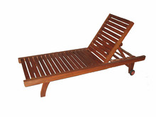 Enjoyable and relax for beach swimming pool wood beach chair