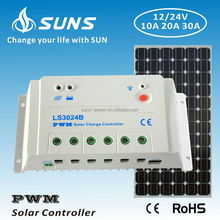 12v 24v voltage auto work 30a pwm solar charge controller factory