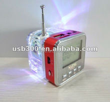 Professional SD Card reader mini speaker for mp3,cellphone,laptop with fm radio