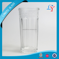 Tall and thin glass cup 8oz drinking glass tumbler with round bottom