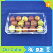 Plastic clear food clamshell packaging boxes with lid