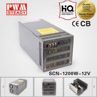 1200W ac dc 220v 12v 100a led driver power supply with pfc function