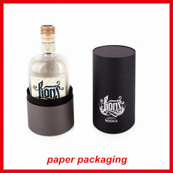 Custom Fancy round tube wine gift box paper container with your design luxury China manmufacture