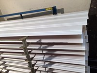 140mm height pure white solid wood baseboard from Foshan