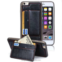 6s PU Leather Back Cover Case With ID Credit Card Slot For Iphone6 6 6s Wallet Cases