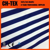 Ladies navy blue and white stripe bandage dress fabric