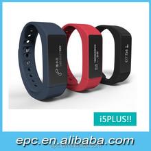 Mais recente modelo pulseira inteligente i5 plus à prova d ' água pulseira de silicone novo produto quente para 2015