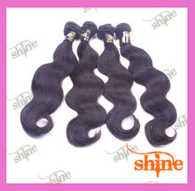 Malaysian natural color virgin 2013 The most popular and sold well wholesale black hair products, malaysian body wave