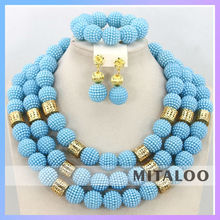 Mitaloo 2015 New Fashion Jewelry Set Delicate Necklsce Set Wholesale Costume Necklace Earring Set MT0001