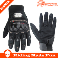 Hot Sale !! 1 Pair Black Sports Pro Biker Motorcycle Gloves Breathable Mesh Fabric Summer Gloves Leather