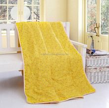 New style china washed summer handmade printed cotton silk quilt for sale