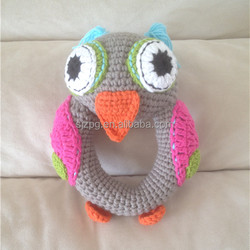Hot sale Christmas gifts cute Crochet Rattle Toy,crochet handmade bird rattle ,healthy toys
