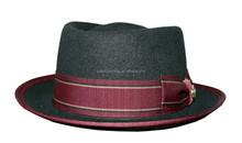 Men fashion black 100% wool felt fedora hats with charming trimband