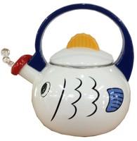 2.3L Enamel Fish Shaped Kettle / Enamel Animal Tea Pot / Colored Stock Water Kettle