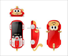 2015 New Dual Sim Card Cute Monkey Style with Disco Light bar phone for children