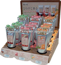 Cardboard cosmetics counter display stand for cosmetic promotion