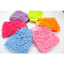 car cleaning used microfiber chenille car cleaning gloves