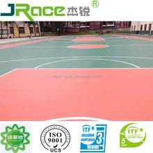 Si-PU rubber paint polyurethane sport court flooring surface