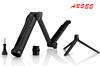 2015 High quality Camera Mount 3-Way Adjustable Bracket Hand Grip Pole Monopod For GoPro