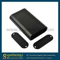 "Black anodized aluminum enclosure project box 4.33""x2.76""x0.94""(LxWxH)"