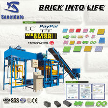 QT4-25 building bricks making machinery, Building Brick Machinery Equipment