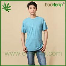 venta de cáñamo O-cuello de la camiseta caliente para los hombres