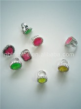 Diamond Ring Toys Plastic Rings , Children Toy Ring Jewelry