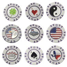 Unique and fashion poker chip set golf poker chip ball marker