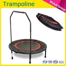 4 folding Wholesale Round indoor fitness mini cheap Trampoline For sale
