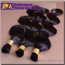 Unprocessed Wholesale DK best selling brazilian bulk hair micro braids with synthetic hair