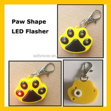 Paw Shaped LED Flashing Cheap Blank Dog Tag