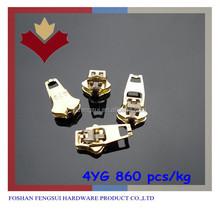 Hot sale metal 4yg zipper slider garment accessory for puller