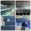 fluid pipe sprial welded 3PE anticorrosion pipe
