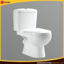 Bathroom ceramic washdown two piece toilet in new design