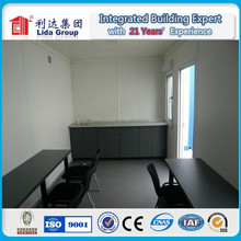 low cost light steel structure prefab flat pack office container house