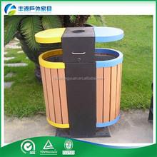 outdoor fireproof waste bins composite wood wpc flooring