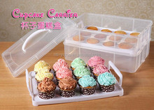 plastic 24pcs cupcake carrier/cupcake stand/muffin cake easy taking carrier