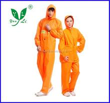 3m pu reflective safety nylon raincoats
