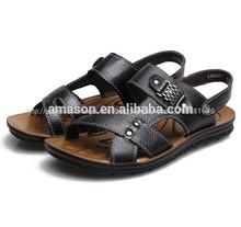 2014 de moda diseño al por mayor de sandalia de cuero baratos de china apartamento sandalias de verano sandalia de los hombres
