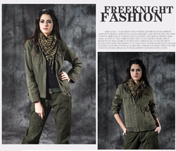 2015 latest fashion Women camo jacket