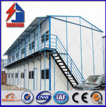 shanghai shanjian prefab house with light steel structure and sandwich panels