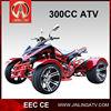 300cc quad bike road legal water cooled /chain drive CVT cheap atv